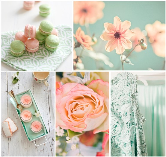 Love My Way Wedding Inspiration Board - Sea Foam & Pink