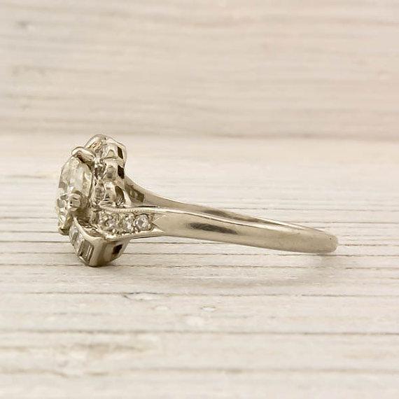 Vintage 1.17 Carat Old European Cut Diamond Engagement Ring
