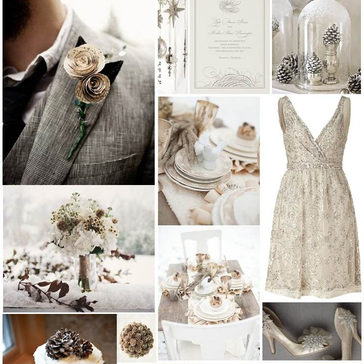 Winter Wonderland Wedding Inspiration Board