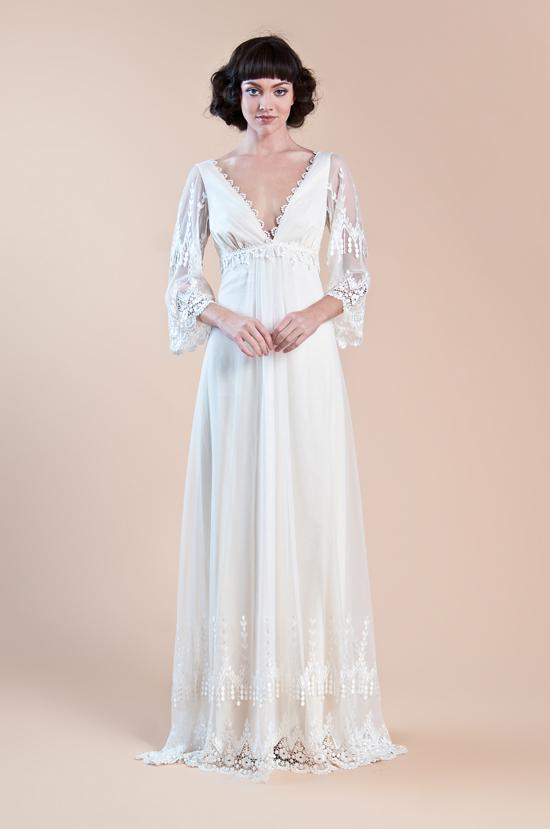 Claire Pettibone Spring 2013 Long Sleeve Wedding Dress