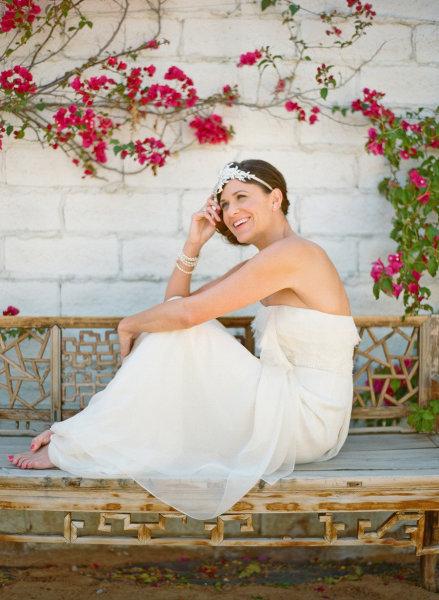 Bohemian Jenny Packham Bride on Style Me Pretty