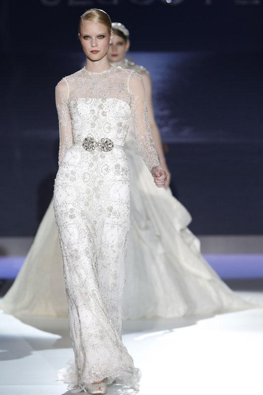 Jesus Peiro Long Sleeved Wedding Dress