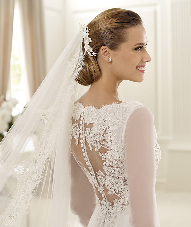 Manuel Mota 2013 Lace Long Sleeved Bridal Dress GANGES