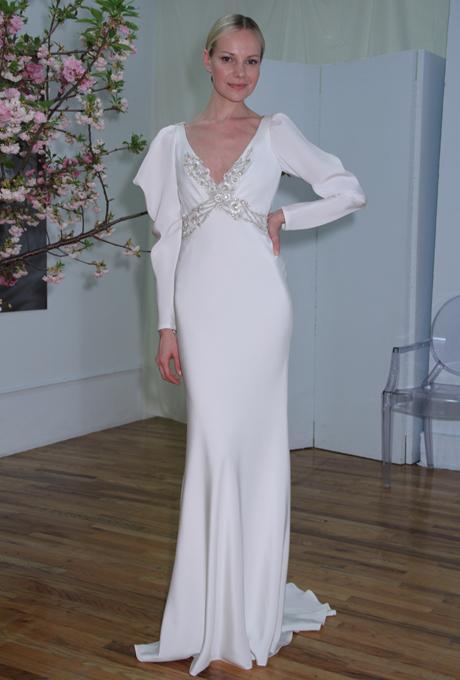 Elizabeth Fillmore Spring 2013 Long Sleeved Wedding Dress