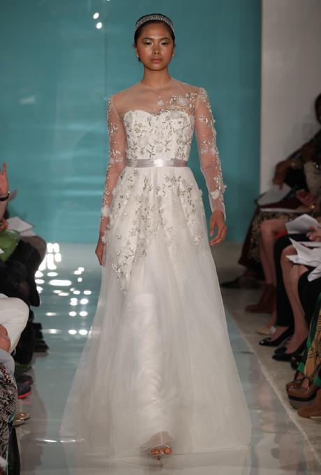 Reem Acra 2013 Long Sleeved Wedding Dress