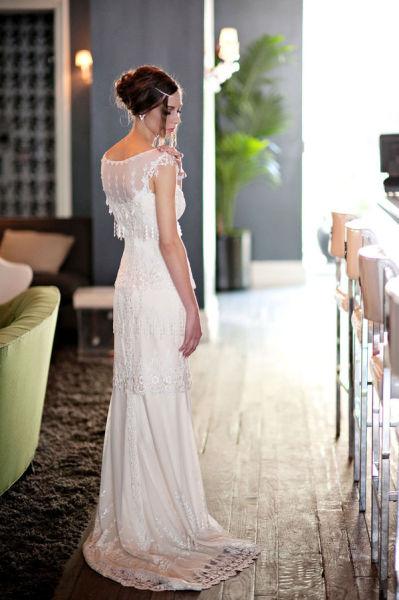 Claire Pettibone Art Deco Wedding Dress