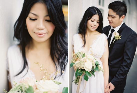 Formal Elegant Engagement session on Polka Dot Bride
