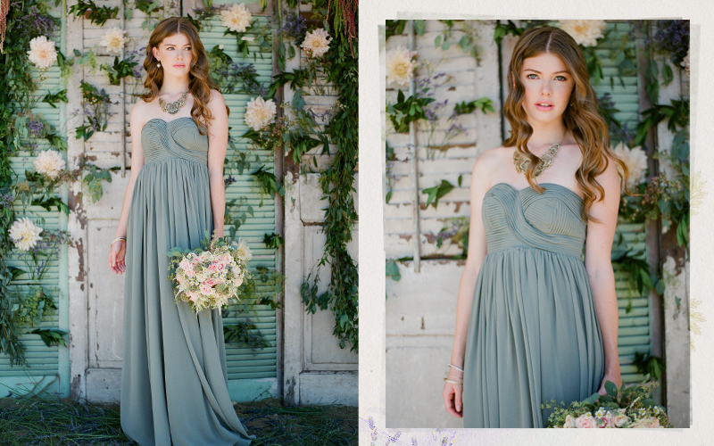 Ruche Fall 2012 Lace & Lavender Wedding Collection Hydrangea Sage Bridesmaids Dress
