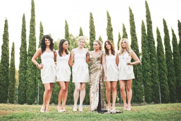 Gold wedding dress for a Yarra Valley Wedding