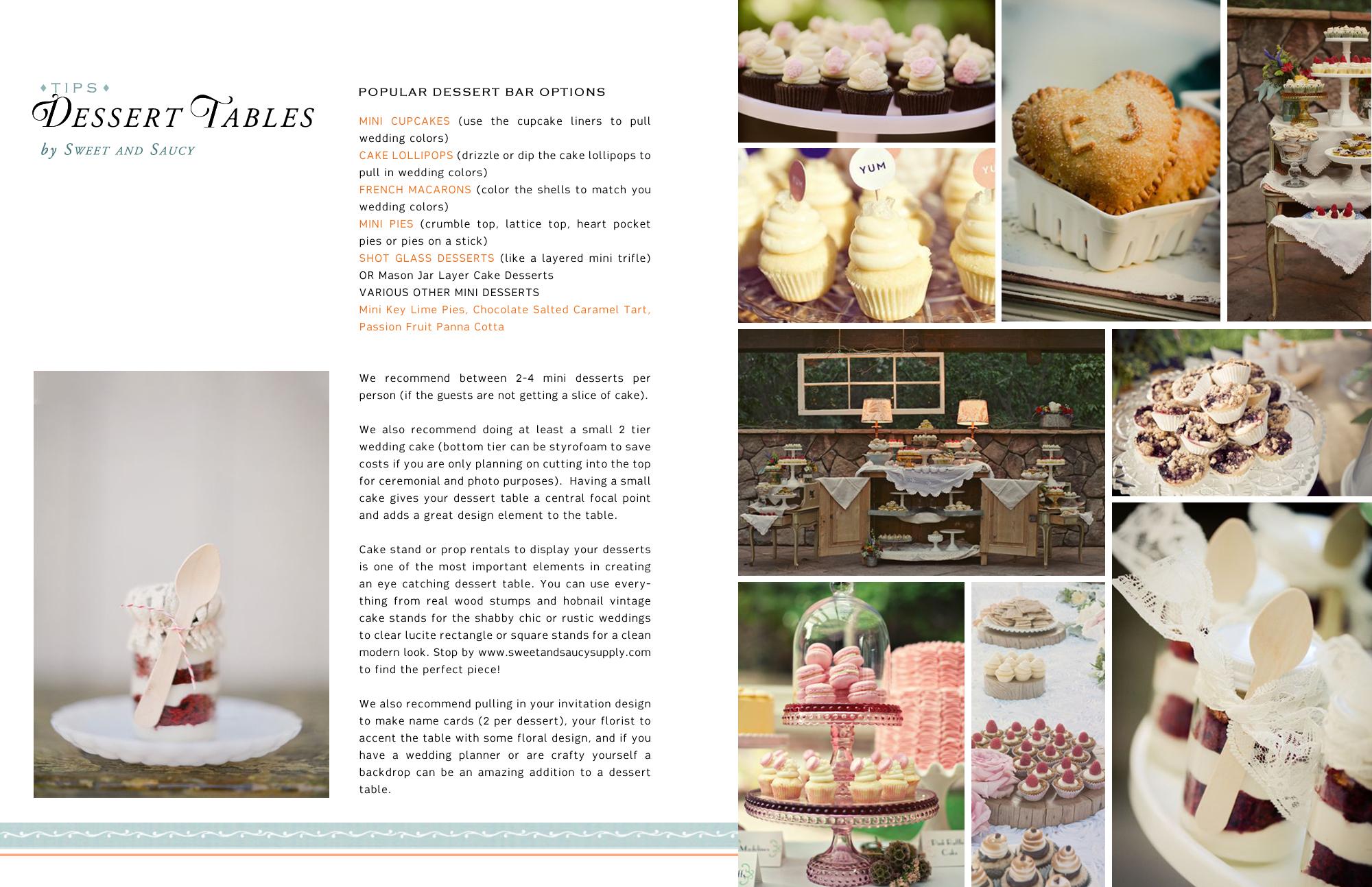 Wedding Bliss Guide Dessert Table