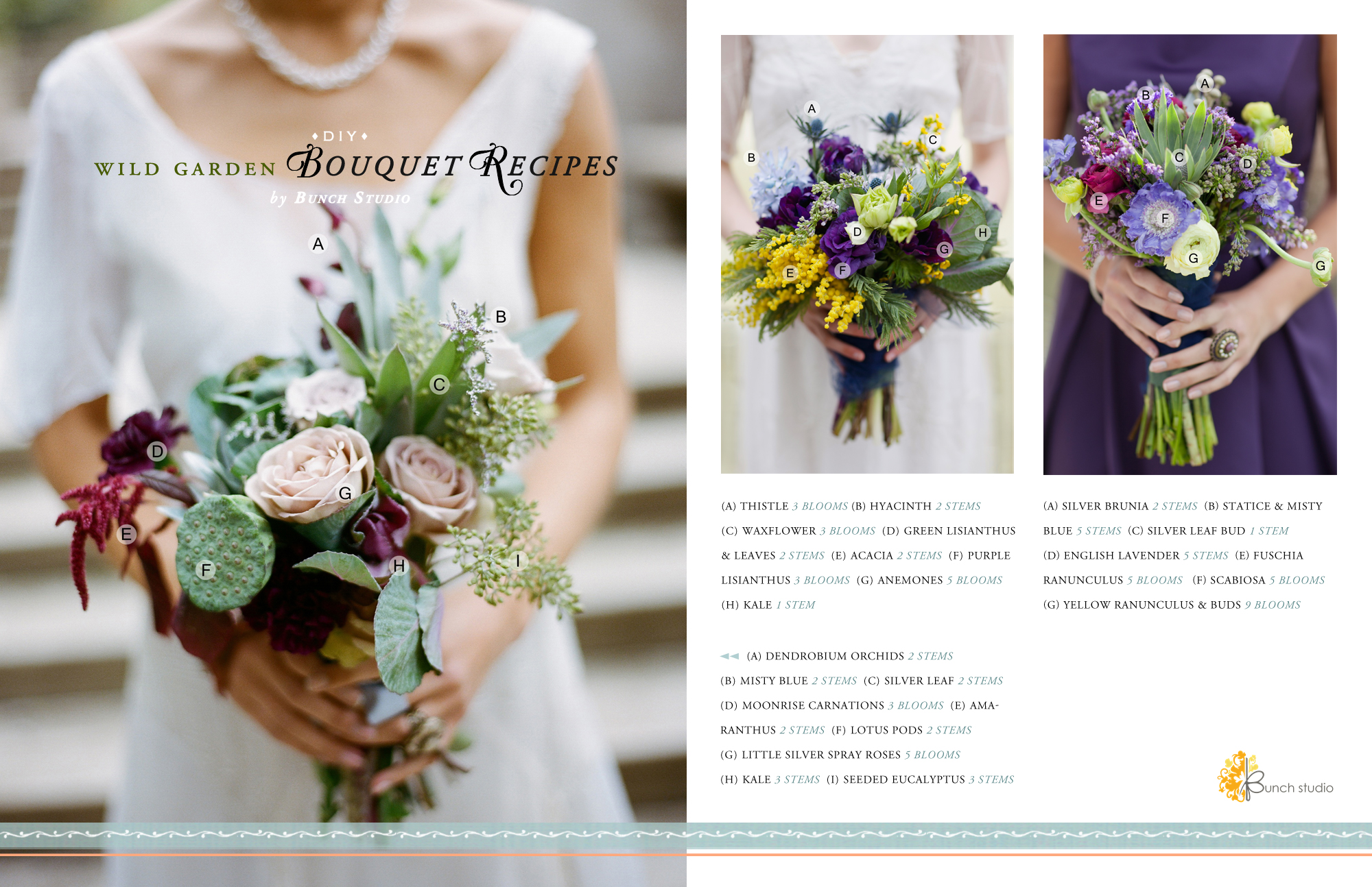Wedding Bliss Guide Wild Garden Bouquet Recipes