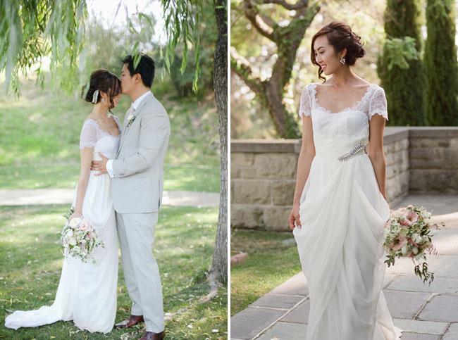 Romantic Californian Wedding of Chriselle on Green Wedding Shoes