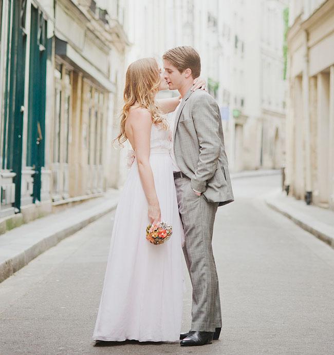 Paris Elopement on Green Wedding Shoes