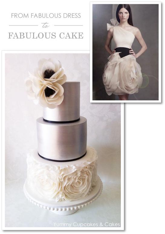 Vera Wang Ruffle Cake by Yummy Cupcakes & Cakes