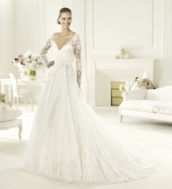 Elie Saab's 2013 Collection for Pronovias - Birgit Long Sleeved Wedding Dress