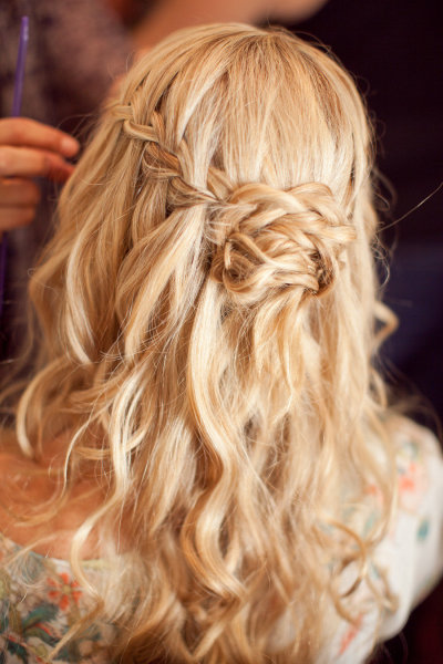 Waterfall Braids - perfect for the boho beach bride