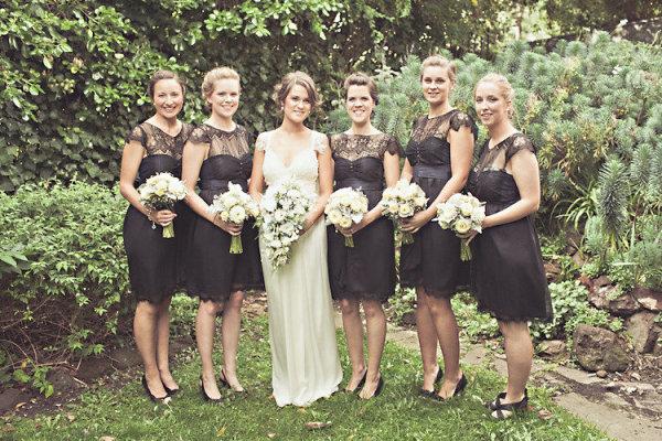 ebdd6e38648 Perfect Little (and Long) Black Bridesmaids Dresses   Chic Vintage ...