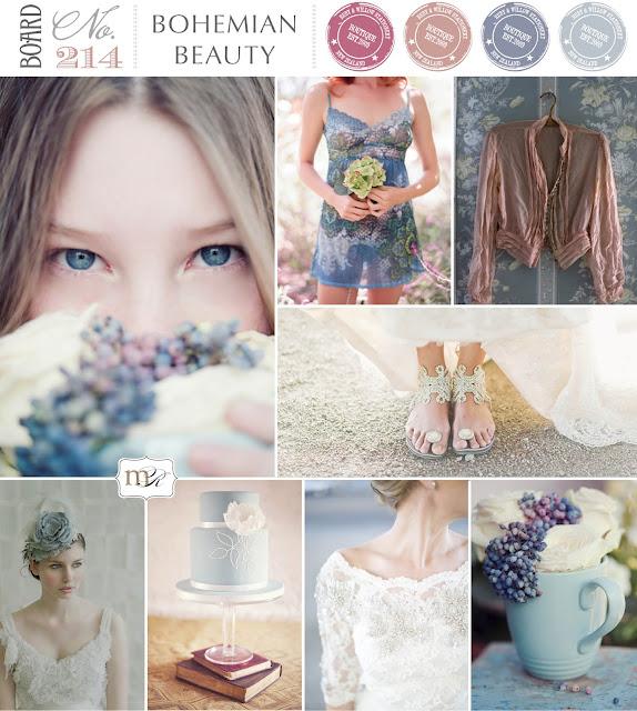 Bohemian beauty Wedding Inspiration Board - Magnolia Rouge Board No214