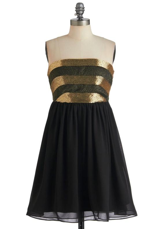 Modcloth - Black Dancing 'til Daylight Dress