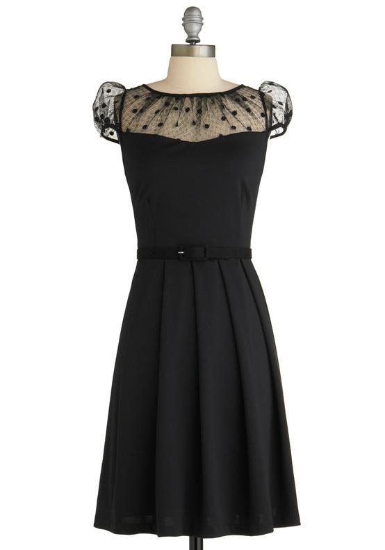 Modcloth - Black Polka Dots Bridesmaids Dress