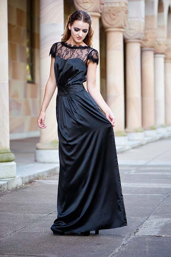 Perfect Little (and Long) Black Bridesmaids Dresses : Chic Vintage ...