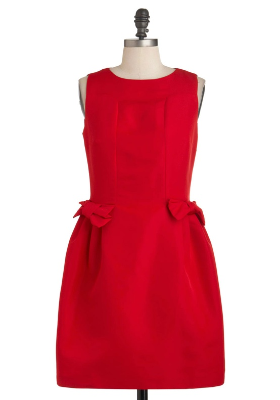 Modcloth - Haute to Fox Trot Dress in Poppy Red