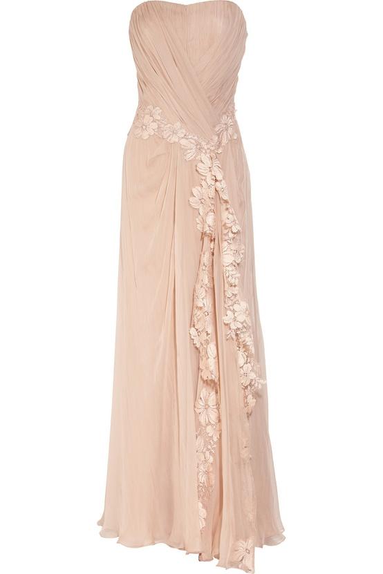 Alberta Ferretti Lace Applique Gown
