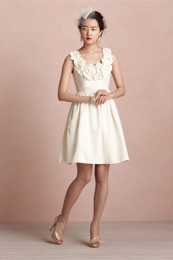 BHLDN Ribboned Garland Dress