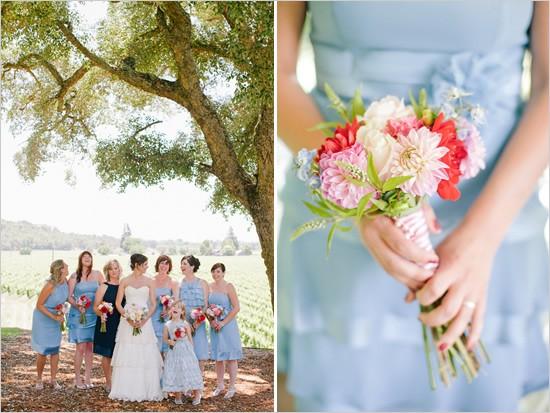 Dusk Blue Bridesmaids Dresses