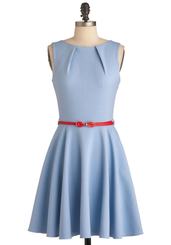 Luck Be a Lady Bridesmaids Dress in Dusk Blue from Modcloth