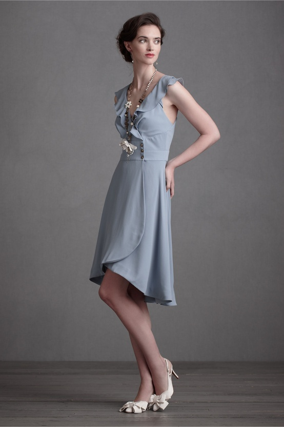 Macaron Shoppe Bridesmaids Dress in Dusk Blue from BHLDN