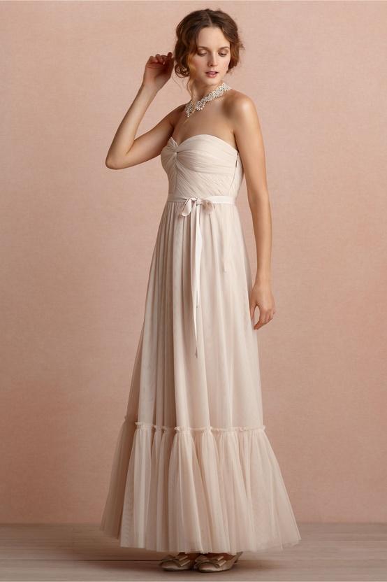 Niceties Bridesmaids Dress in Linen from BHLDN