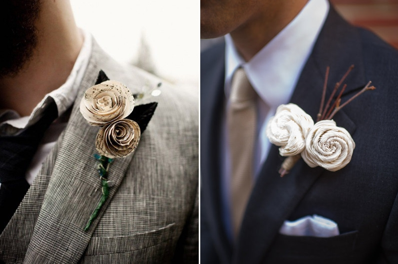 Alternative Winter Boutonieres