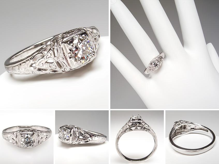 Antique Engagement Ring br0094
