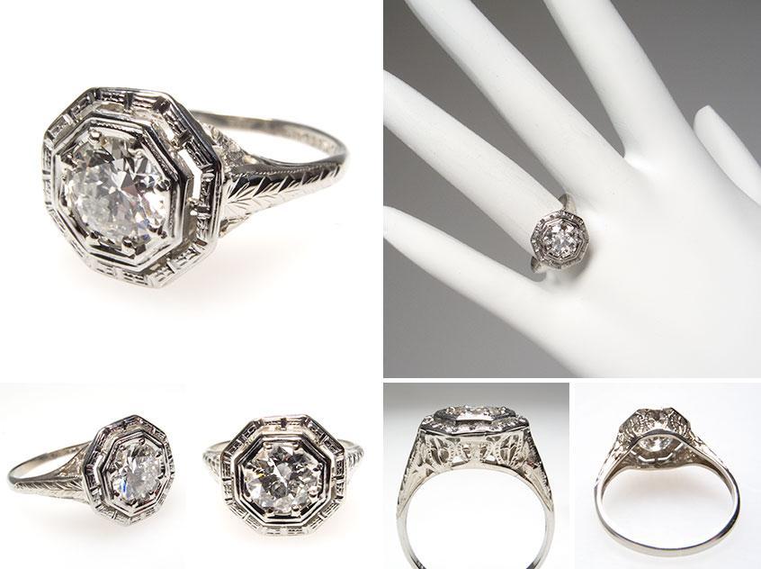 Art Deco Engagement Ring wm7355