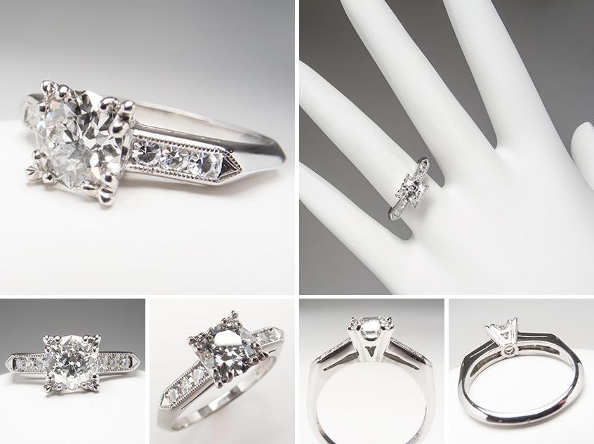 Art Deco Engagement Ring wm7678