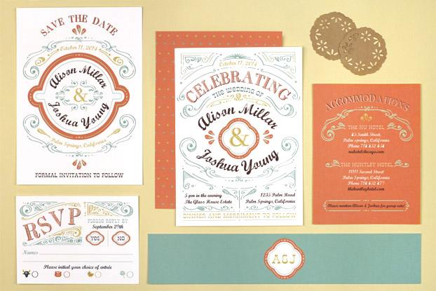 Cheerful Celebrations Wedding Stationery from Love vs Design