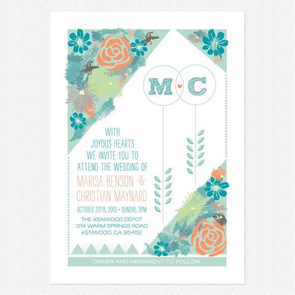Flora Wedding Invitation from Love Vs Design