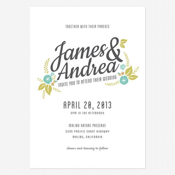 Floral Charm Wedding Invitation from Love vs Design