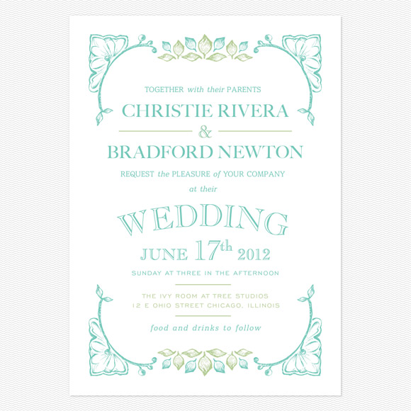 Garden wedding invitation wording guitarreviews modern vintage wedding stationery from love vs design chic invitations stopboris