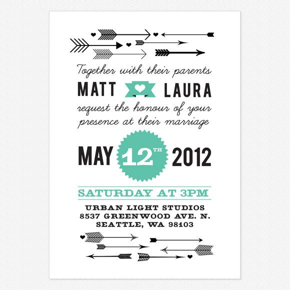Love Struck Wedding Invitation from Love vs Design
