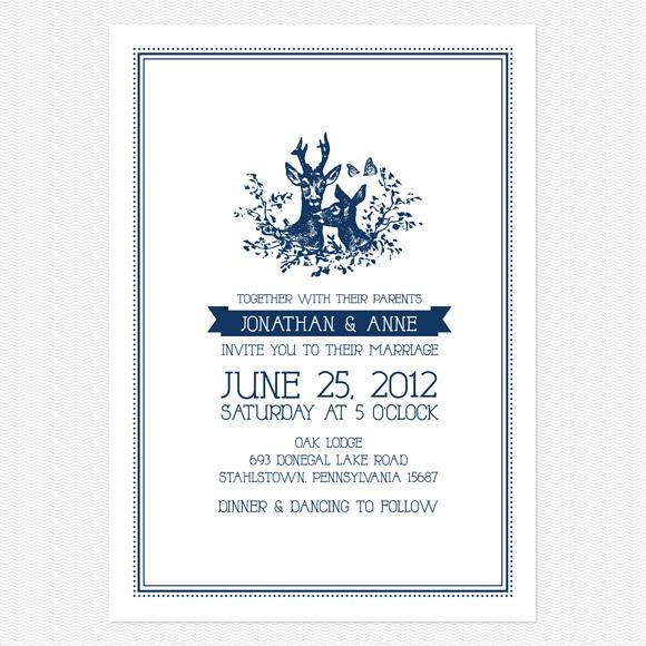 My Dear Wedding Invitation from Love Vs Design