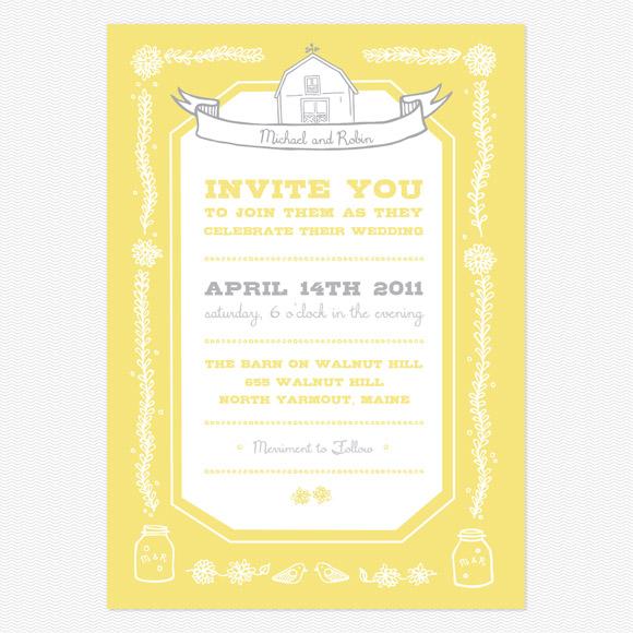 Rustic Barn Wedding Invitation from Love vs Design