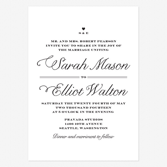 Rustic Chic Wedding Invitation From Love Vs Design