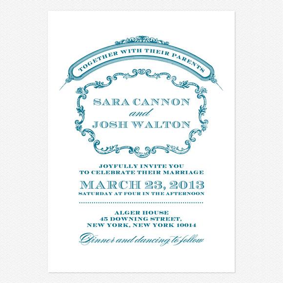 Victorian Luxe Wedding Invitation from Love vs Design