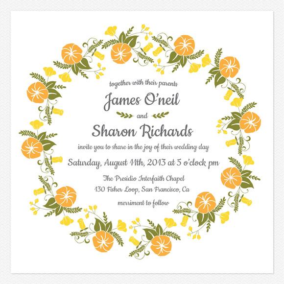 Vintage Blossom Wedding Invitation from Love vs Design