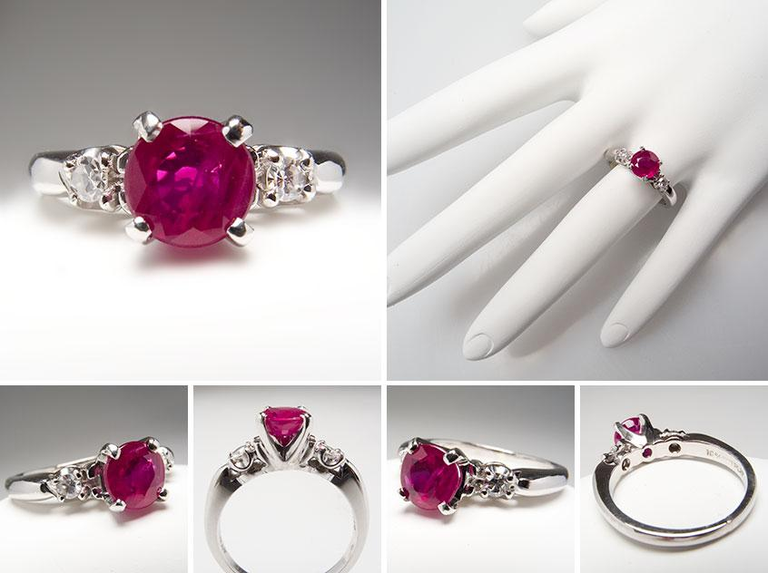 rings index gem brides ruby jewellery diamond vintage attachment antique chic era ring engagement