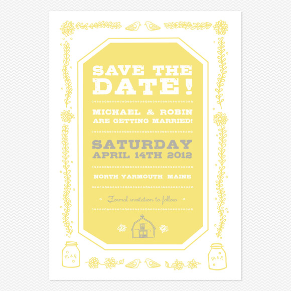 Save The Date - Rustic Barn