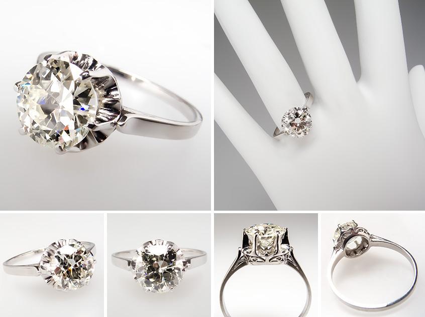 Transitional Diamond Engagement Ring wm7853