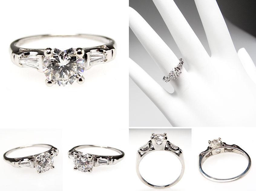 Vintage Diamond Engagement Ring dia973